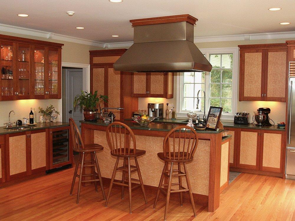 Carl's- cherry and birdseye maple kitchen