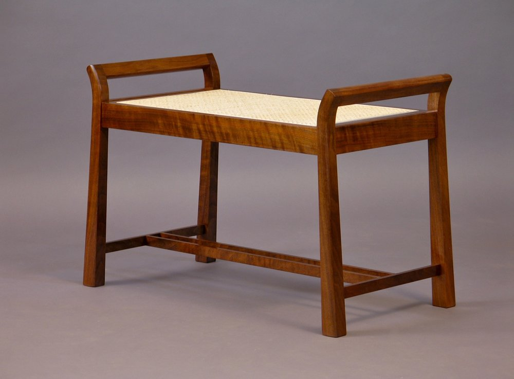 ML bench 2- walnut, cane