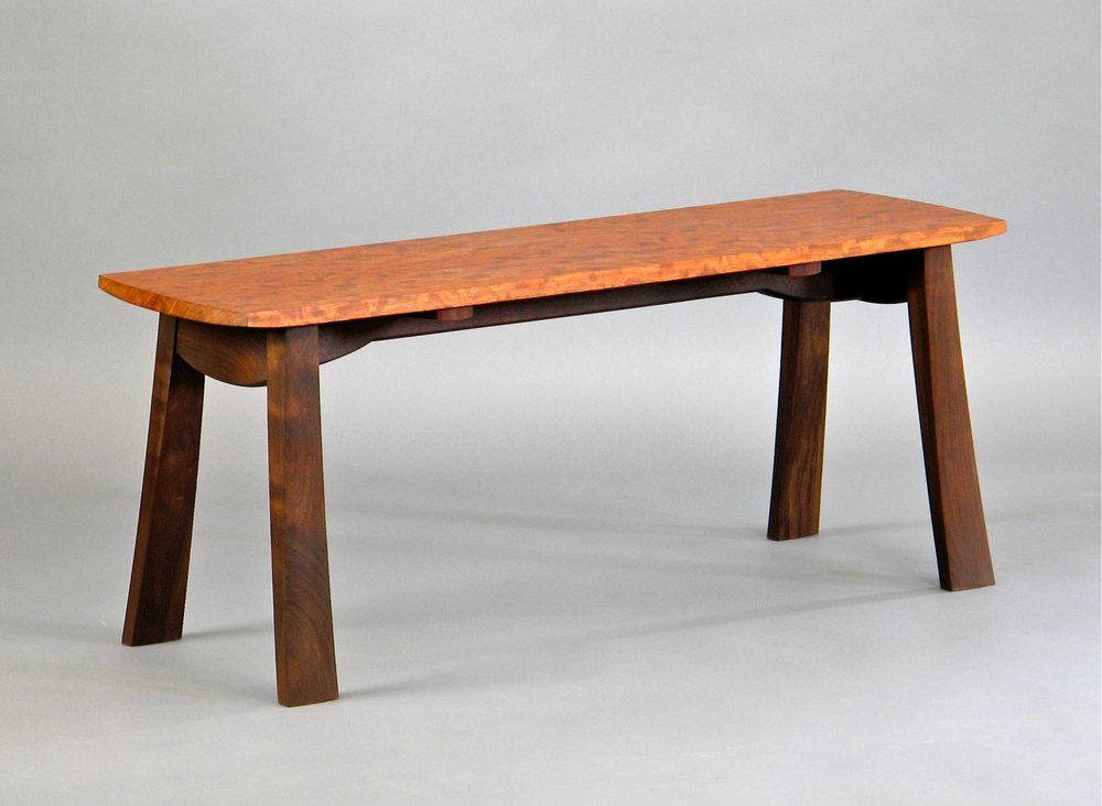 Kainer bench- walnut, bubinga