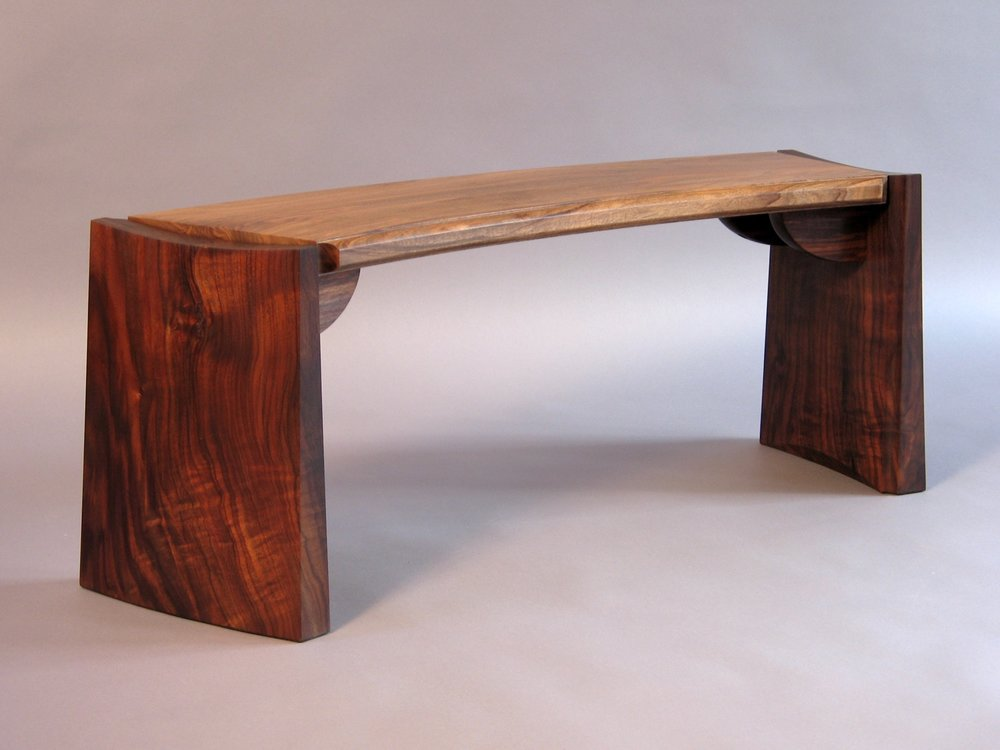 Grove St bench- claro walnut, english walnut