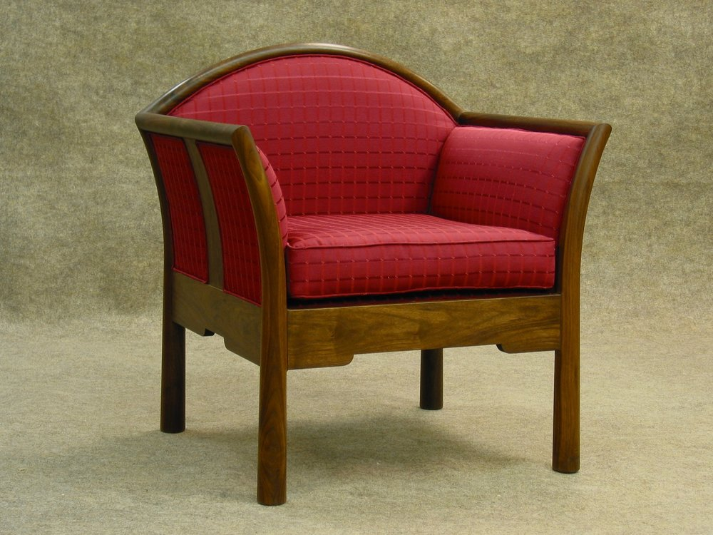 Hayward chair- walnut, upholstery