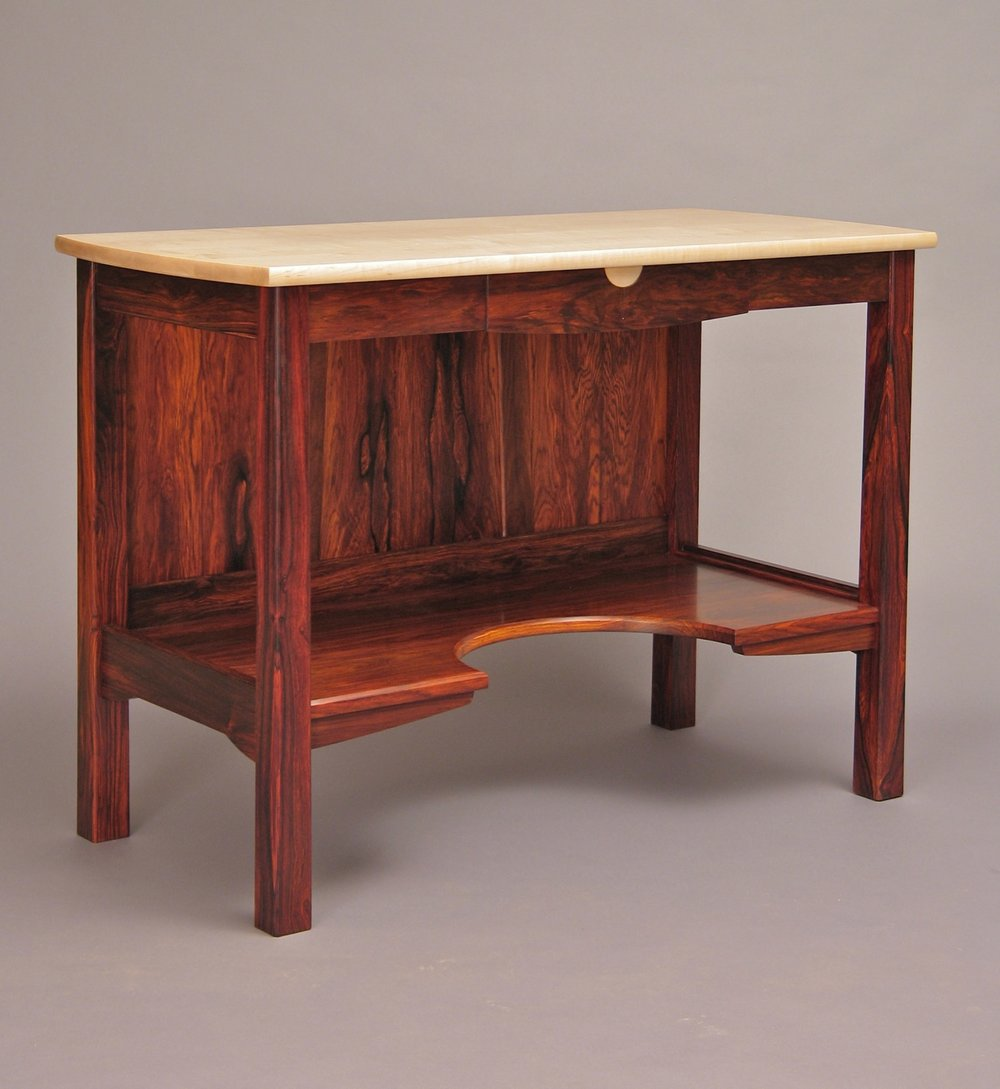 Lawlor desk - cocobolo, curly maple