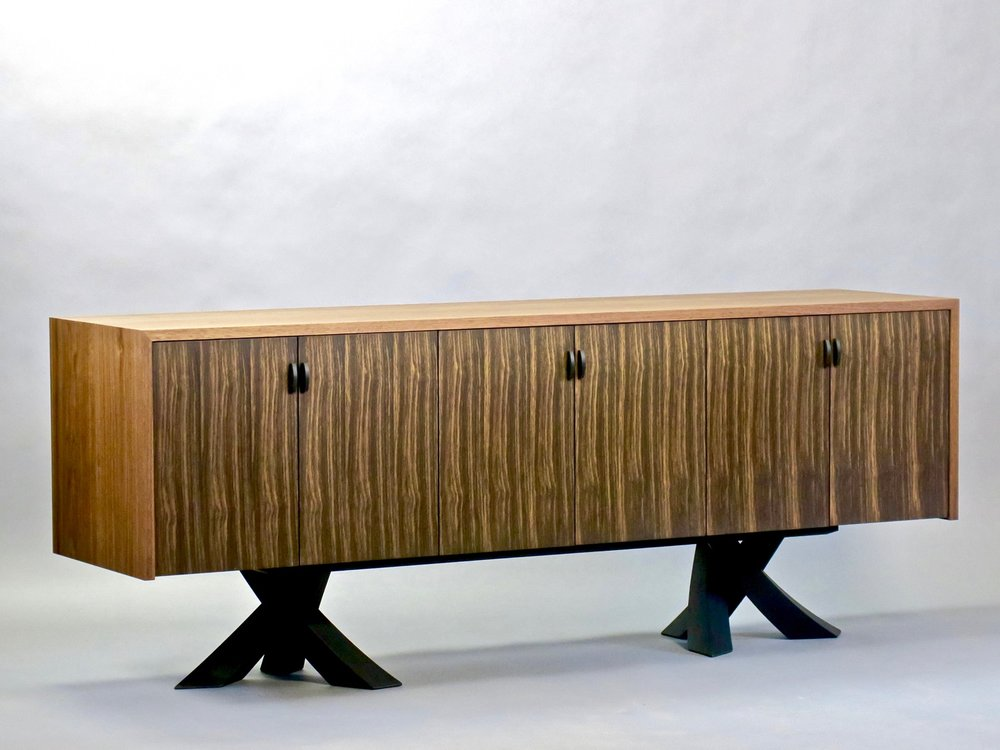 Laguna credenza - walnut, bog oak, ebonized walnut