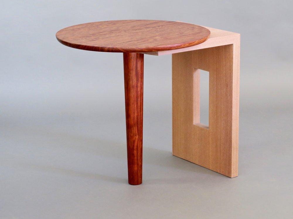 """Havana side table 1 - bubinga, limed sapele - w 24"""" x d 27"""" h 25"""""""