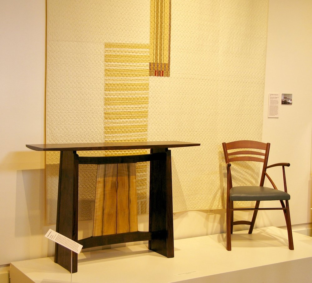 Meridian and Series - Bookends to my career at that point, the Series chair was designed and made in 1992. Display at Fairfield Museum, Fairfield, CT 2105-2016