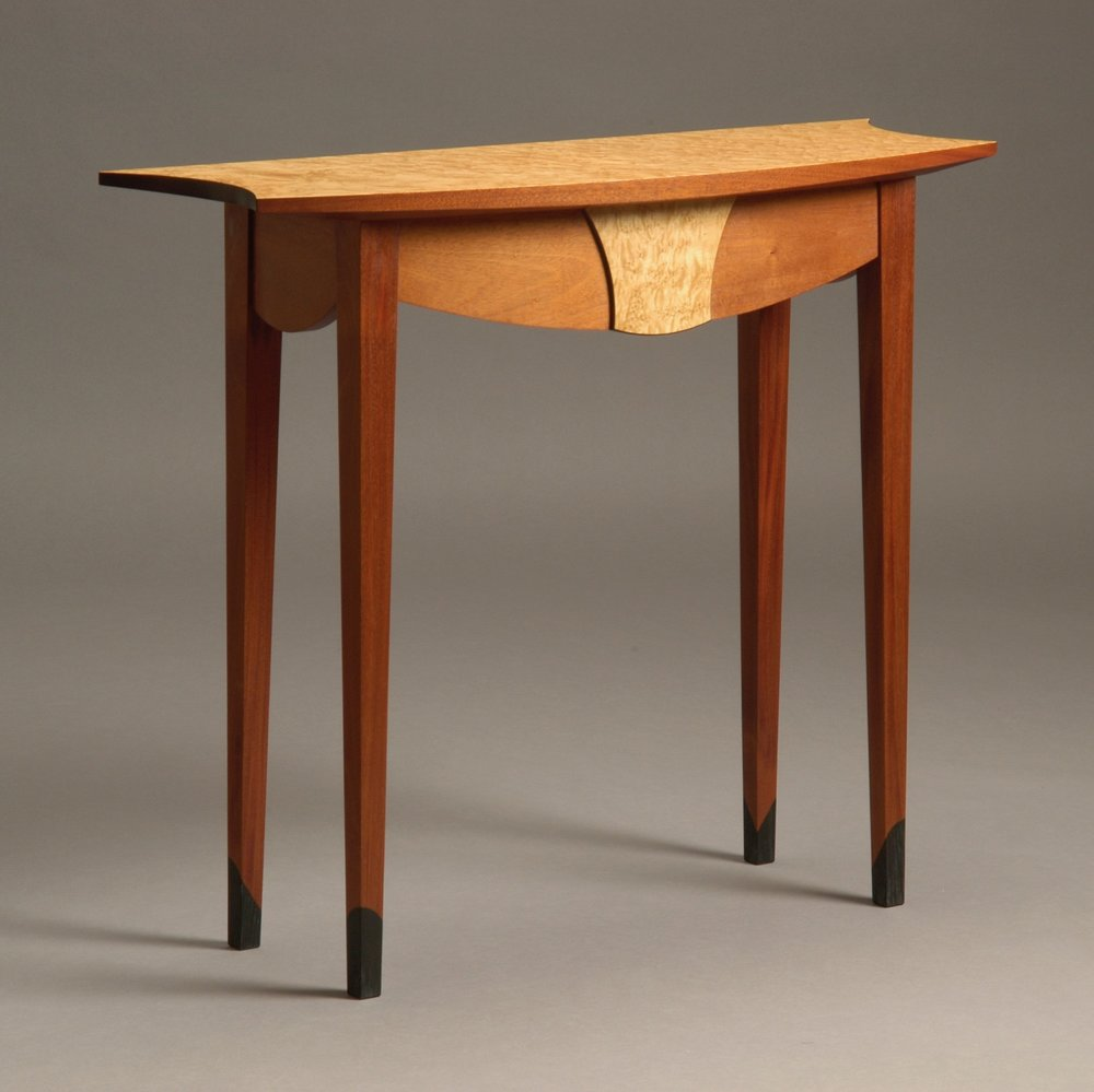 Essex console - mahogany, birdseye maple