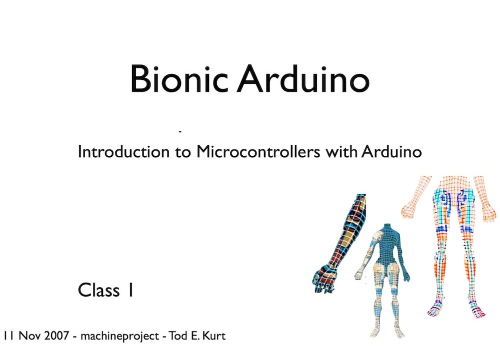 Bionic Arduino (2007) - An introduction to Arduino and mechatronics