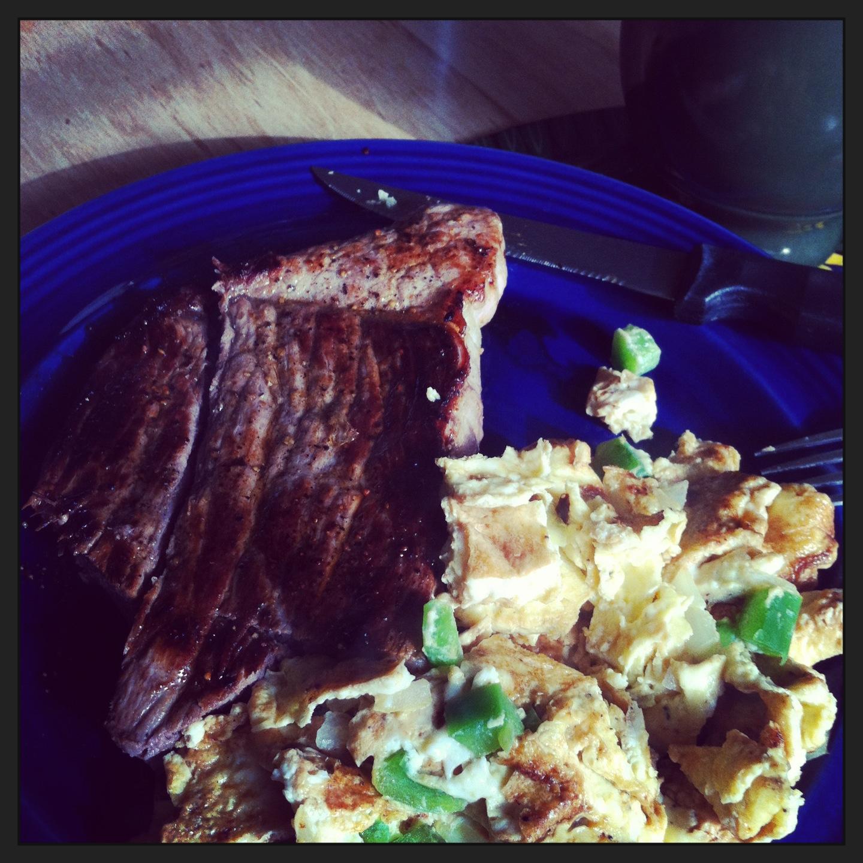 overcooked steak
