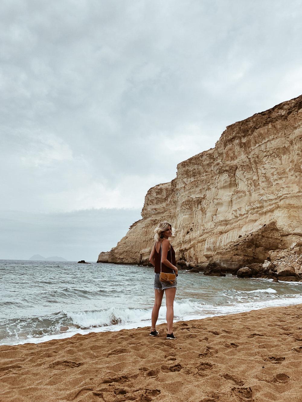 Carnet Sauvage - Blog voyage Crète, visiter Matala et la red beach
