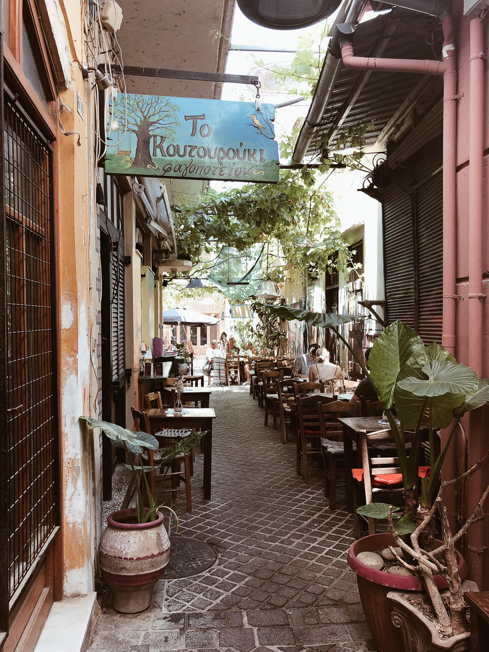 Carnet Sauvage - Blog voyage Crète, Restaurant Chania