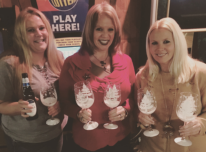 We do more than just canvas… - We paint wine glasses and ice cream soda mugs. We craft holiday ornaments and mason jars too!