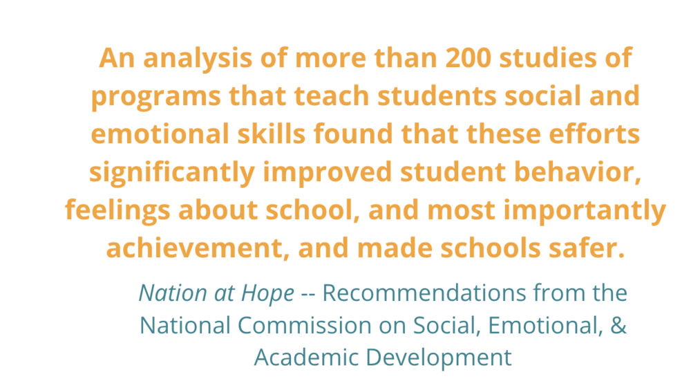 Student Social Emotional And Academic >> What Excites Us Nation At Hope Study