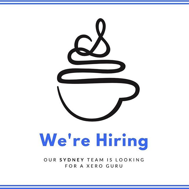 We're hiring! Come get yo job on! #sydney #bookkeeping #jobsearch #bookkeeper #xero Link in bio.