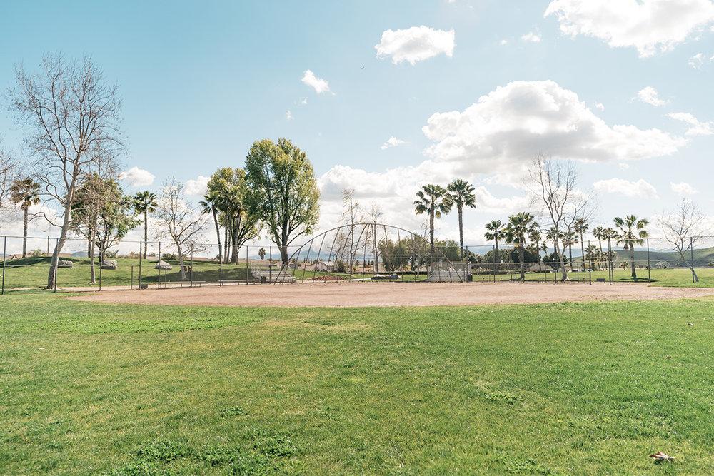 Baseball field for family games