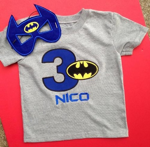 Batman Birthday Shirt With Mask