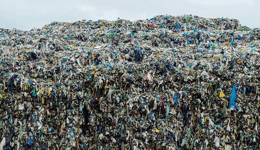 Used Clothing Dump Site in Manila, Philippines.