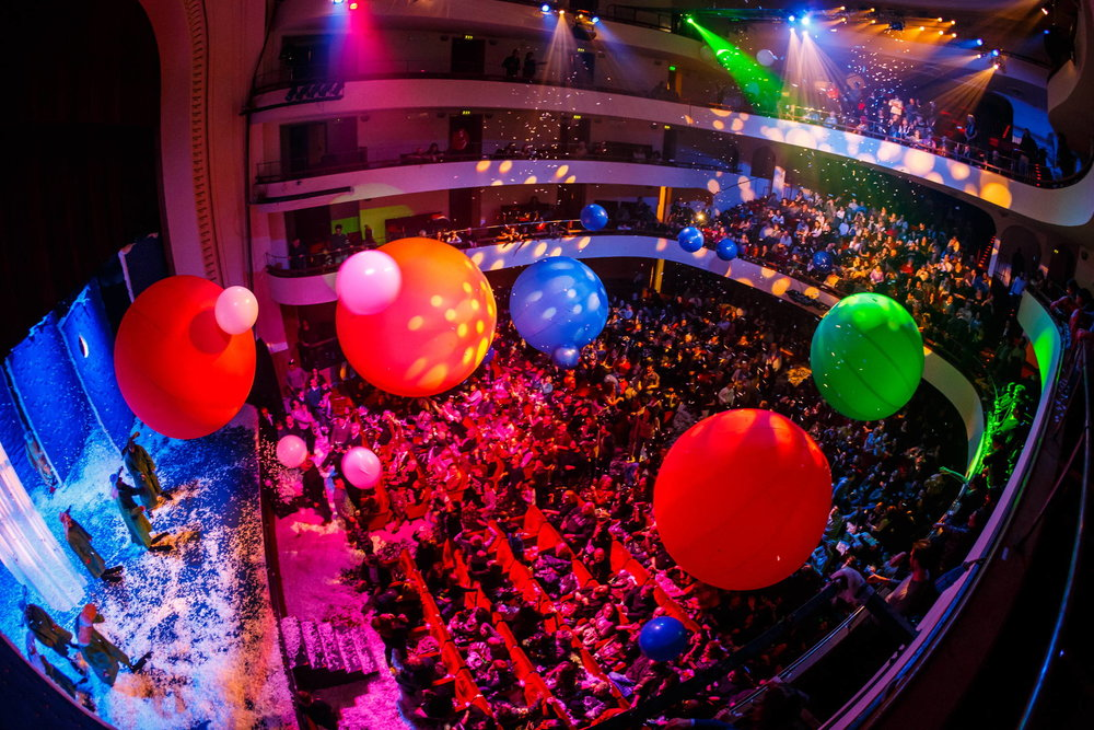 "Moment of the ""Slava's snowshow"" at Teatro Duse in Bologna"
