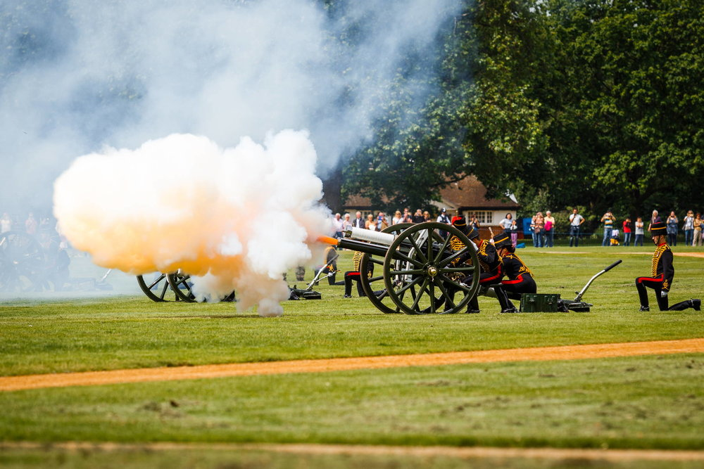 A 41 gun salute for the Duke of Edinburgh's Birthday in London