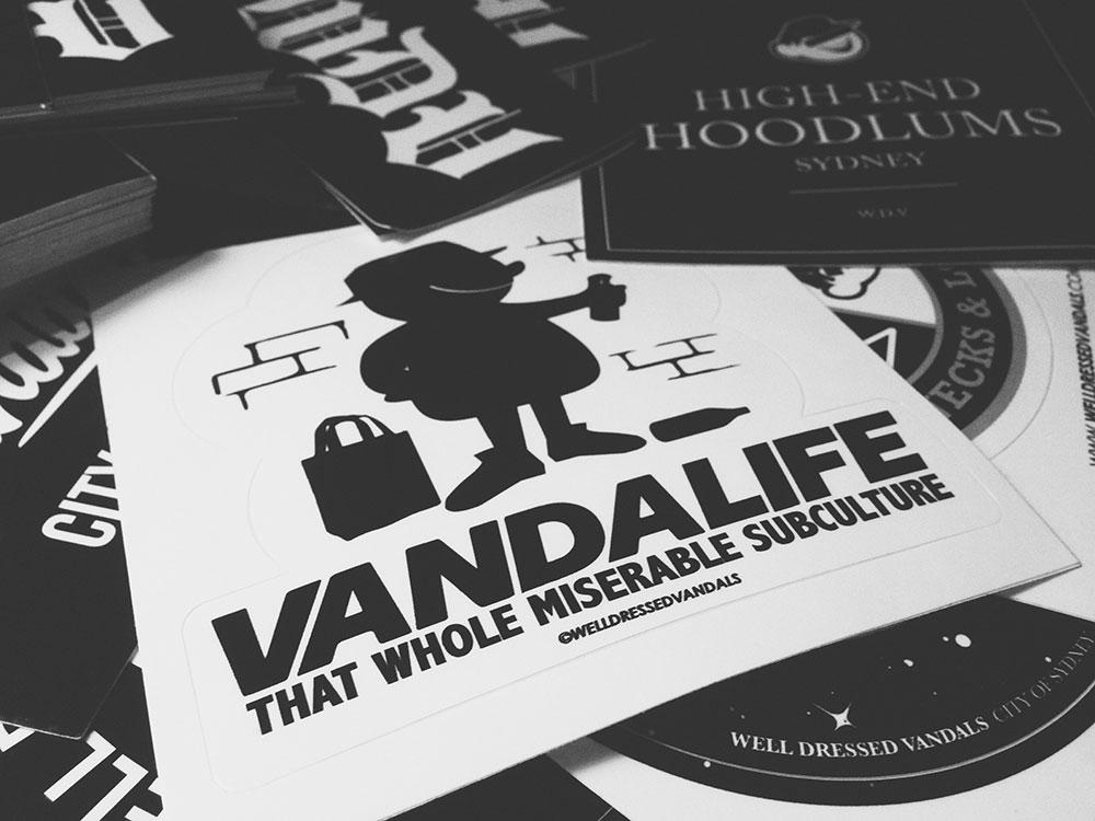 welldressedvandals_stickers_BW_1000px
