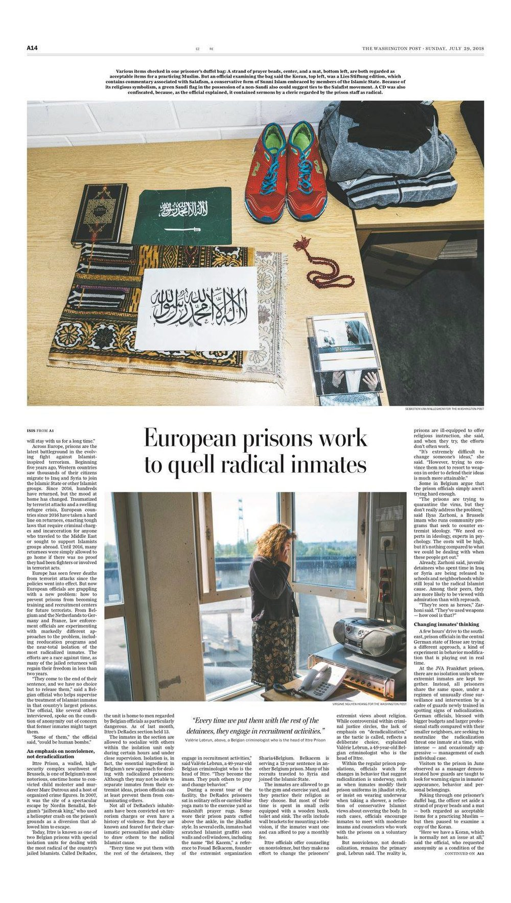 Assignment inside German Prisons for Washington Post