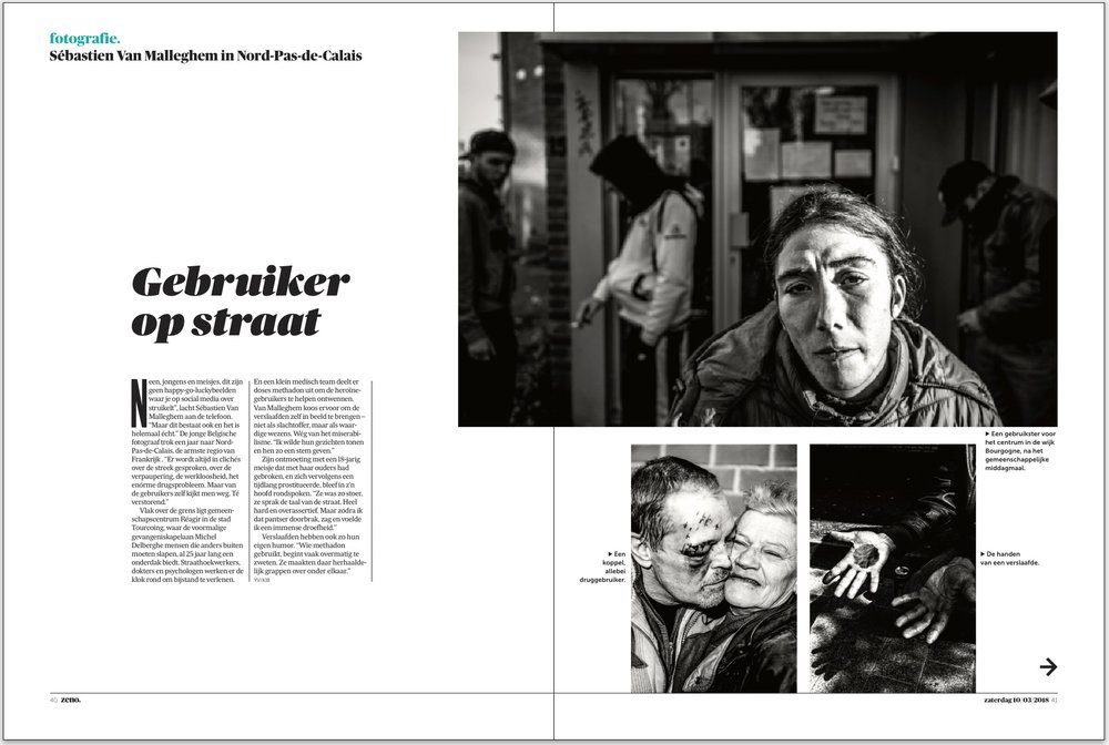 Reagir 8 pages for De Morgen