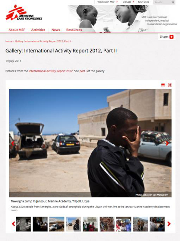 Assignment for Doctors without Borders / Libya