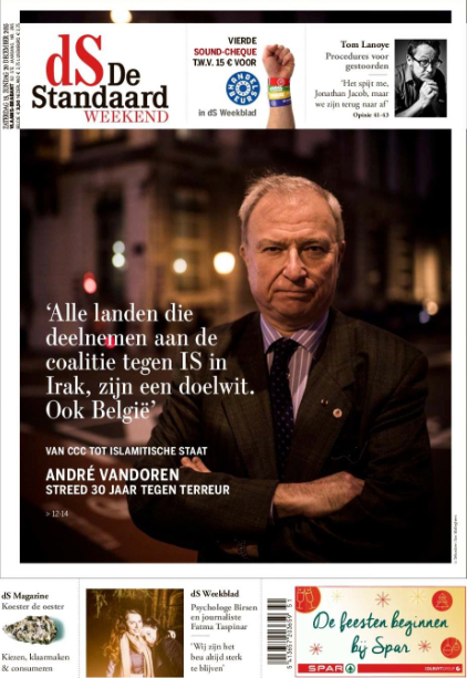 Assignment cover De Standaard
