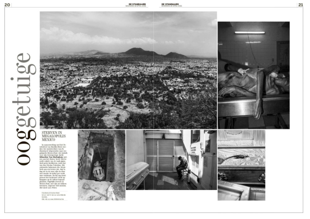 Mexican Morgues 2 pages for De Standaard