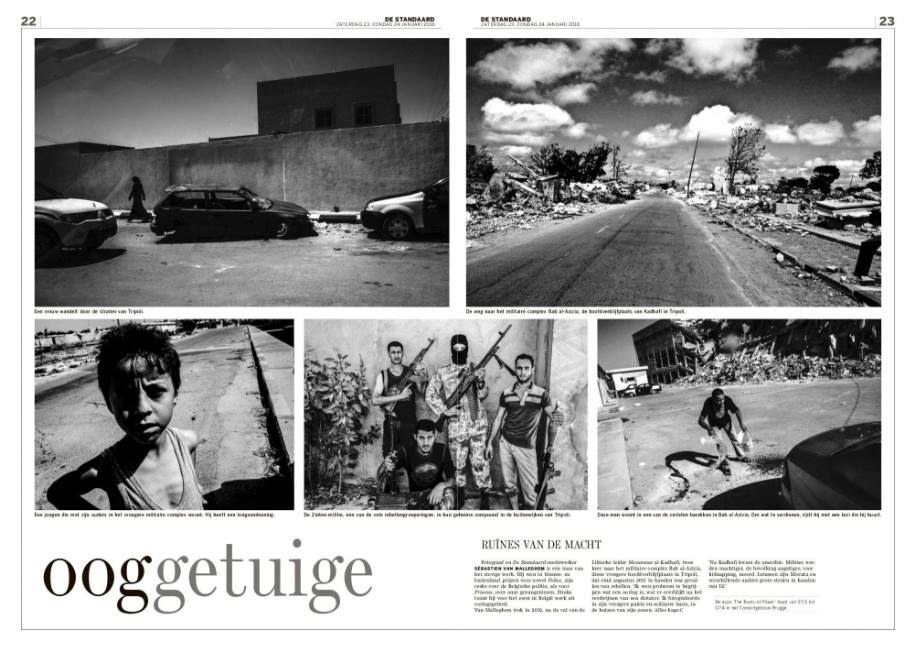 Libya aftermath double page for De Standaard