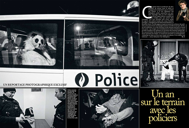 Police 6 pages for Le Soir Magazine