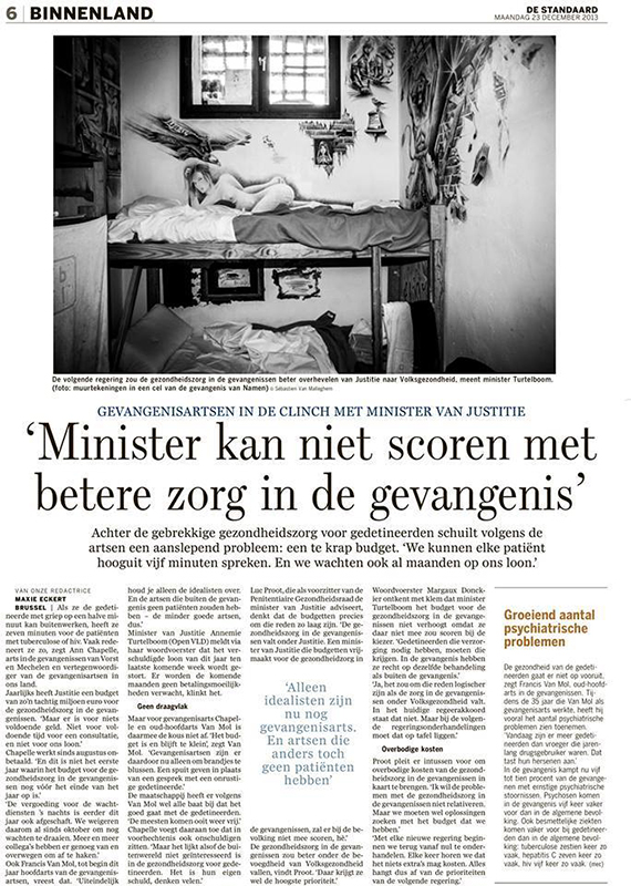 PRISONS for De Standaard