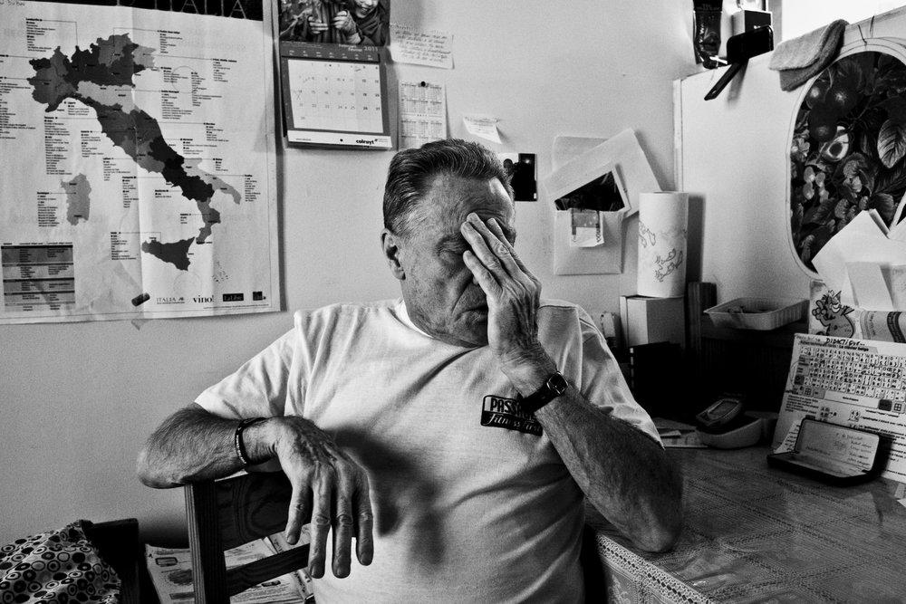 Marcel Habran, in his cell inside the prison of Nivelles. © Sébastien Van Malleghem