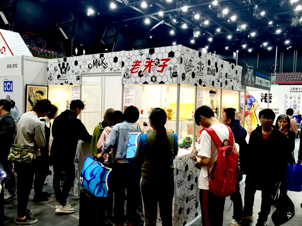 MILK CARGO Booth at TOYSOUL HK 2018