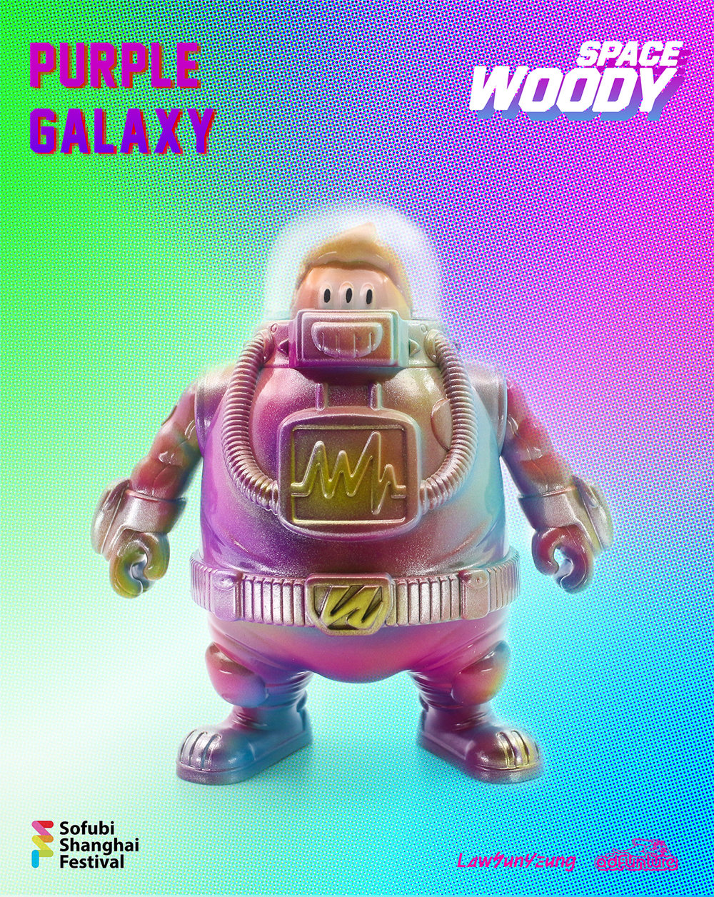 PURPLE GALAXY - Leading up to the first official colored edition of SPACE WOODY, Law Sun Yeung produced a micro-run of 10 pieces dubbed PURPLE GALAXY to be released at SOFUBI SHANGHAI FESTIVAL on Jan. 26th of 2019.