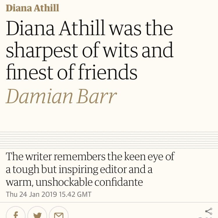 The Guardian -Diana Athill