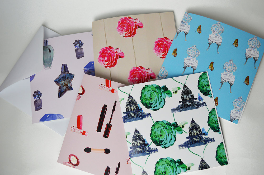 Collaged cards available to purchase from my   Etsy shop