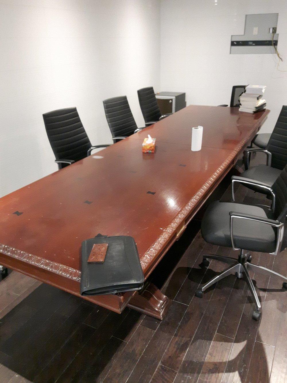 TUP ANTIQUE SOLID TEAK TABLE BEFORE.jpg