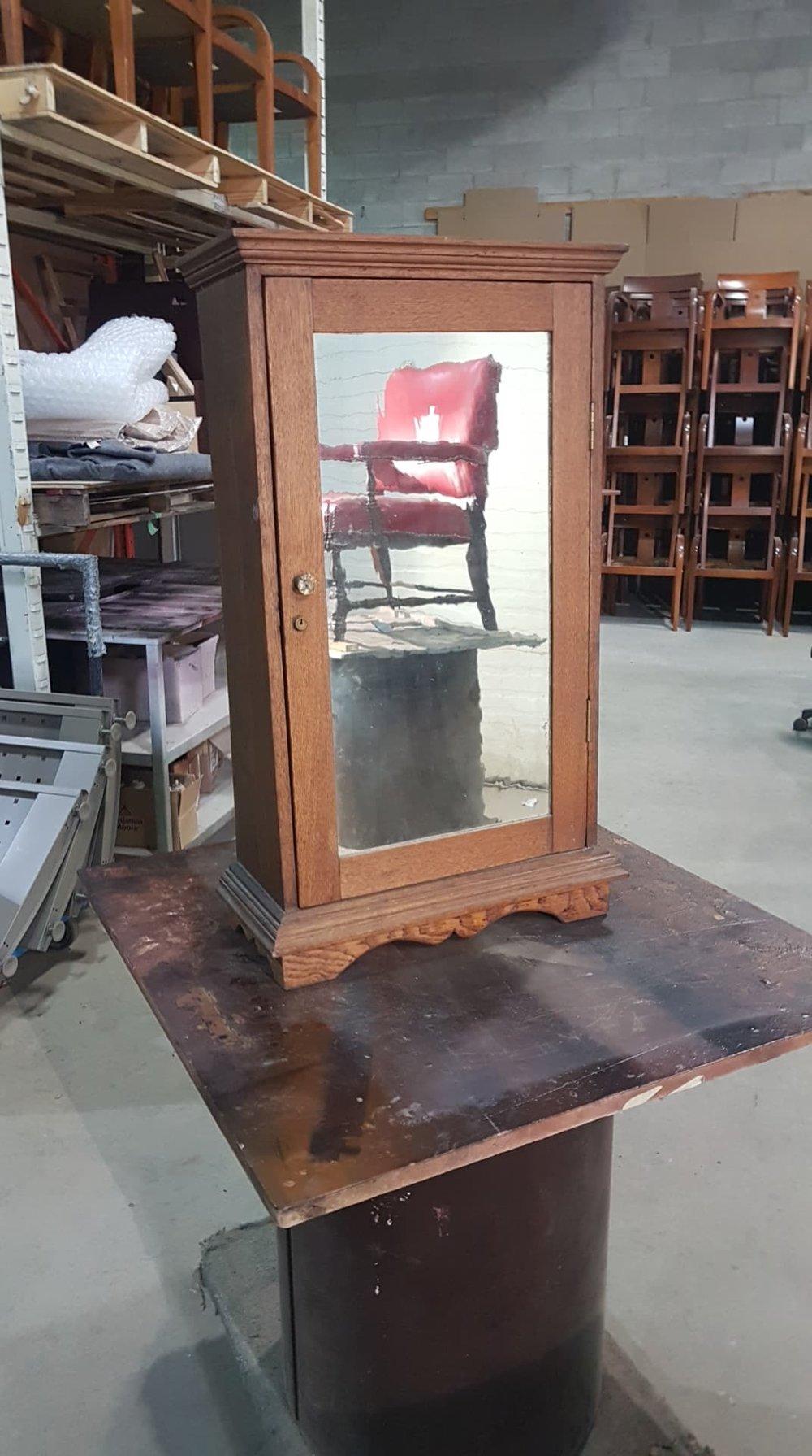 BEFORE - Antique medicine cabinet