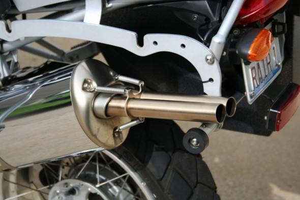 """BMW R1200GS Exhaust Extension - """"oil cooled"""""""