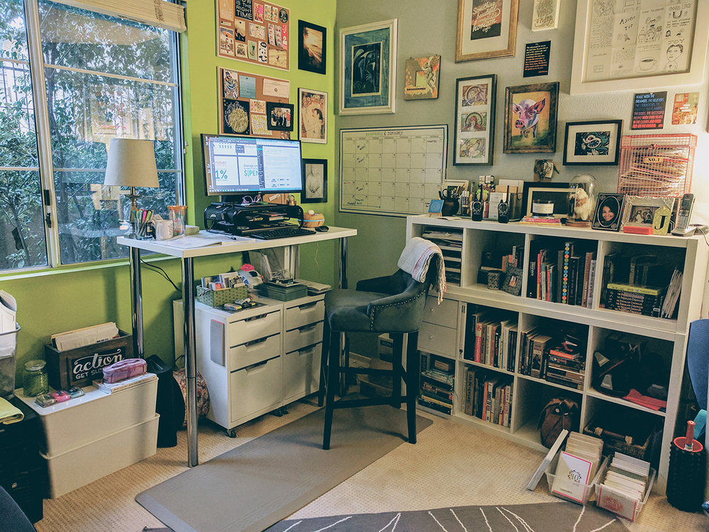 This is my old office space. New blog post of the new space (and organization coming soon!)