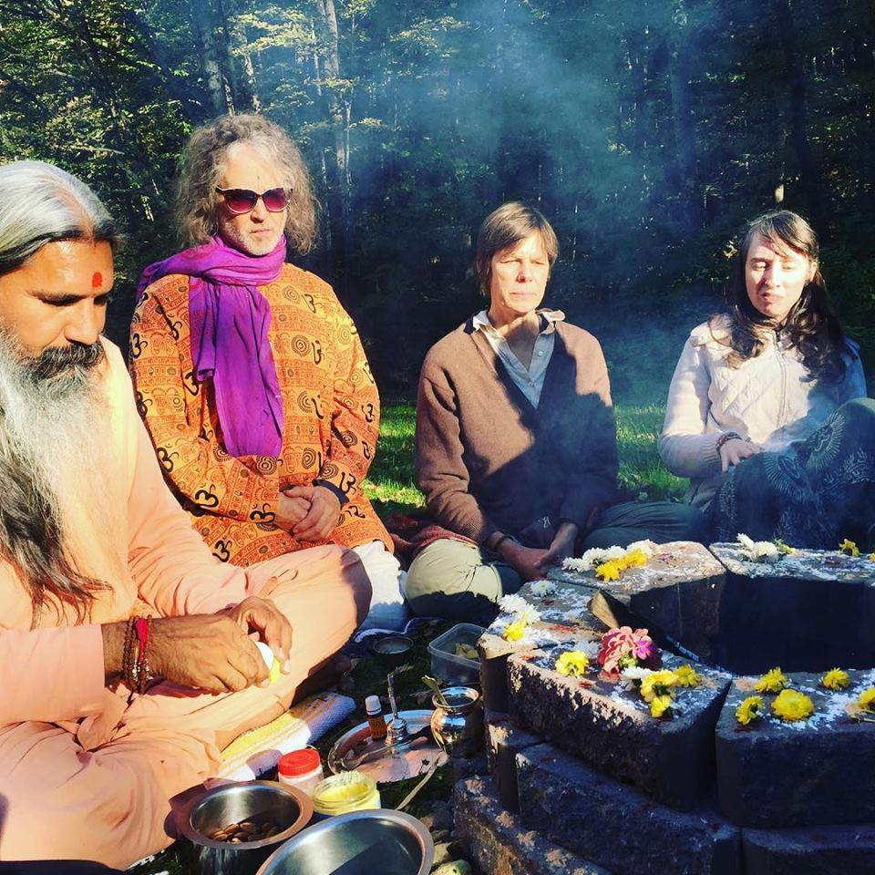 Fire Ceremony with Swamiji, 2018