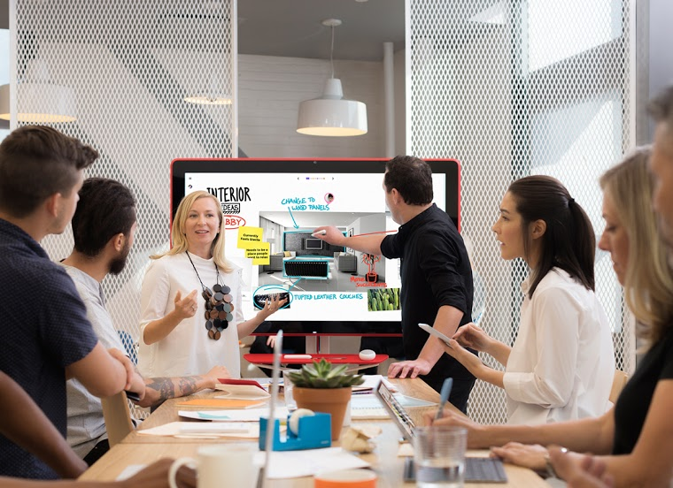 Create, collaborate, and bring your team's ideas to life - Jamboard unlocks your team's creative potential with real-time co-authoring. Experience unhindered productivity, whether your team is in the same room using multiple Jamboards, or across the world using the Jamboard app on mobile.