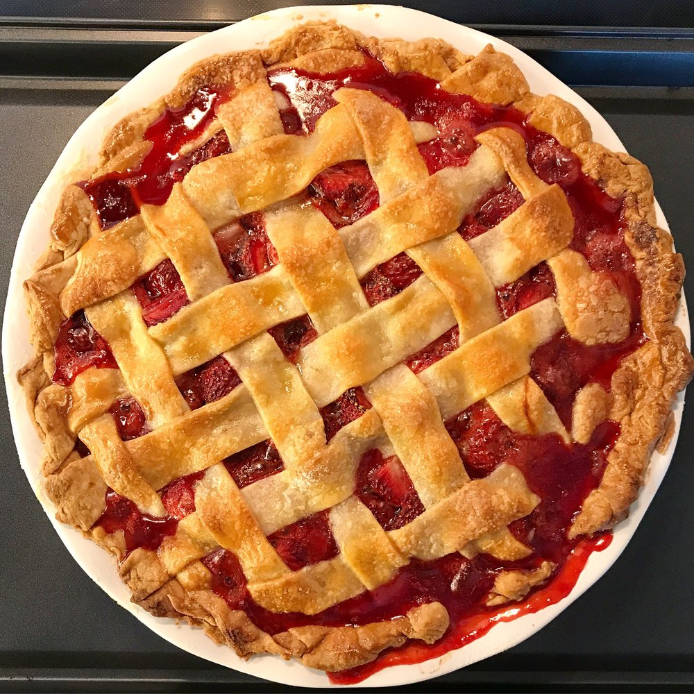 4. Homemade Strawberry Pie - I baked a lot of pies this year, but this Memorial Day strawberry lattice pie was my favorite, even if (or maybe because?) it looks like it's bleeding.