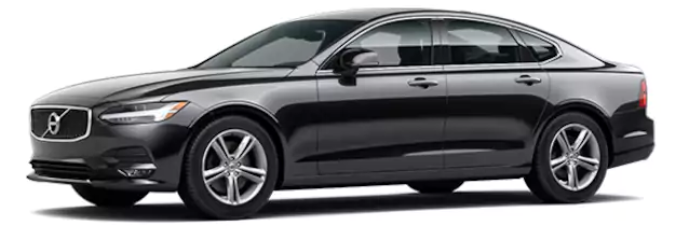 "Our black Volvo S90 Momentum is immaculate with interior leather and generous legroom with seating for up to 4 guests. Panoramic sunroof, privacy tint, and rear climate and seat controls are just a few of the attributes that set this ride apart! Interested in ""Thor's Hammer"" headlights or the plethora of safety features? Read on below!"