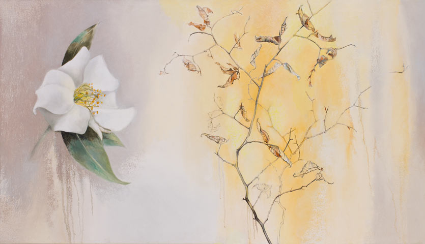 White Camellia and Beech Tree