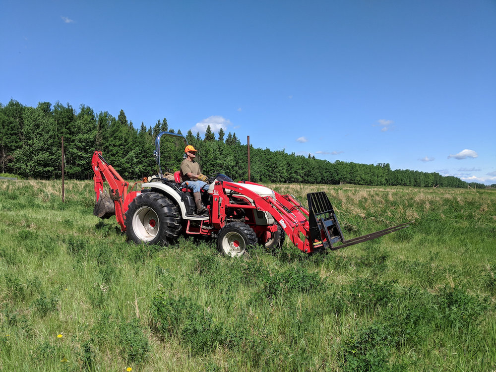 - Peter's farm tractor came in very handy