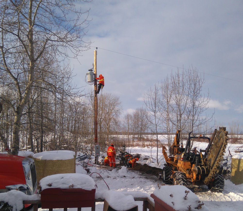 - Saskatchewan Power installed a new transformer for the winery, which has higher power needs than the house and barn, with a separate meter too.