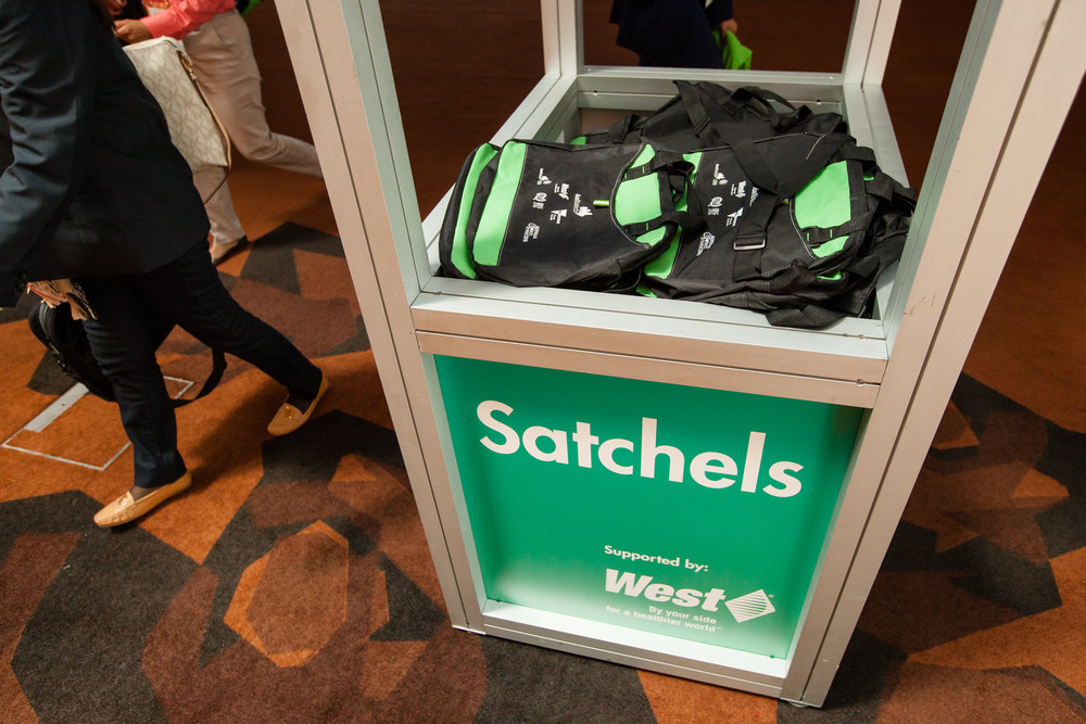 """Build your own satchel Insert - Members $2,000 - Non-members $2,700Include your marketing collateral in the """"build your own satchel"""" area where delegates will pick the brochures they want to include in their bag. Size and weight restrictions apply."""
