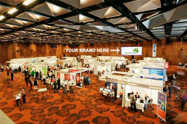 Large screen projection - Members $1,500 | Non-members $2,000Your logo or supplied advertisement on the sponsor's carousel projected on a big screen in the exhibition hall during. This valuable piece of real estate is highly visible from all areas. (Advertisement subject to approval by AusBiotech.)