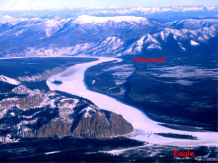 Homestead outside of Eagle, Alaska along the Yukon River